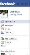 Facebook Left panel