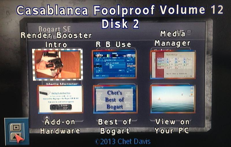 Foolproof Volume 12 Menu